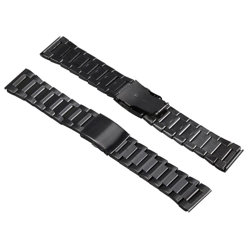 Microwear H1 D'origine Montre Smart Watch Bracelet En Acier Inoxydable 26mm Noir Andorid IOS Pour H1 Montre Smart Watch