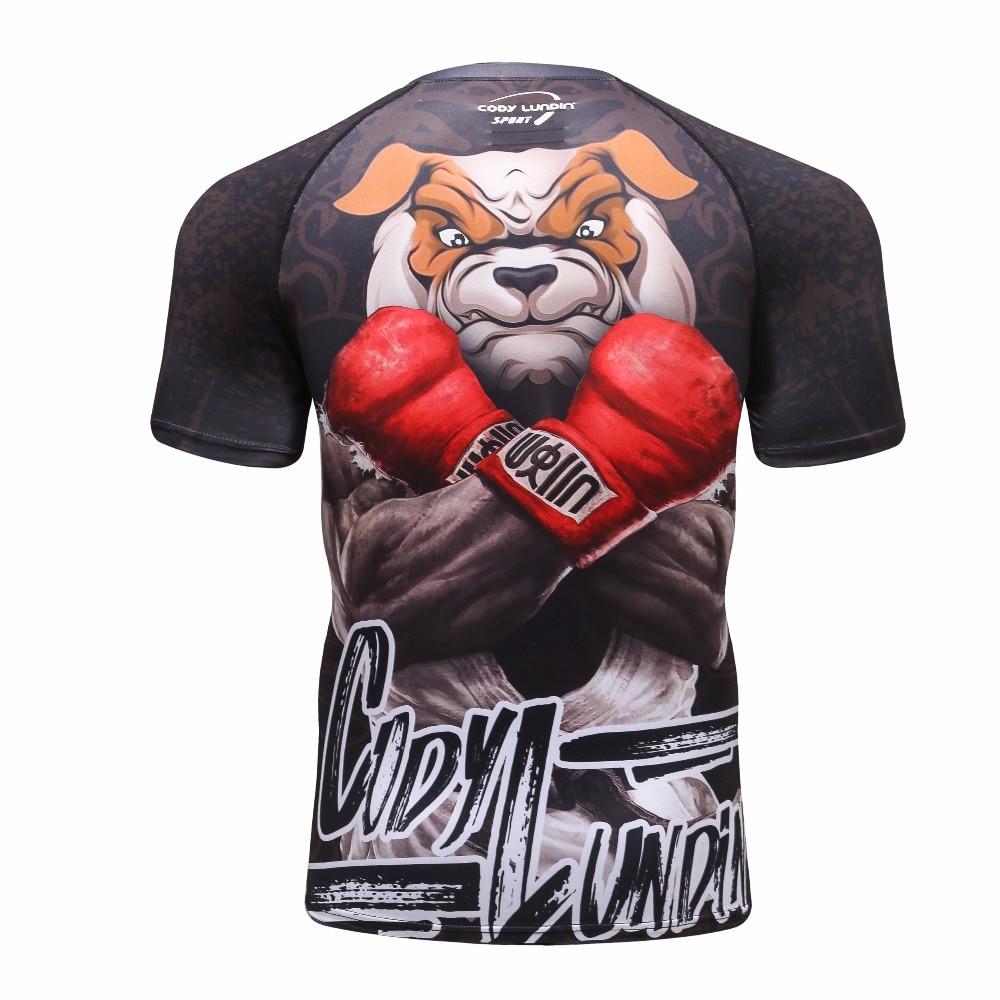 2018 Nova Compressão Camisa Rashguard Manga Curta 3D Imprimir Musculação  Aptidão Crossfit MMA BJJ Jiu Jitsu T shirt dos homens Tops em Camisetas de  Dos ... 63998eede0fa0