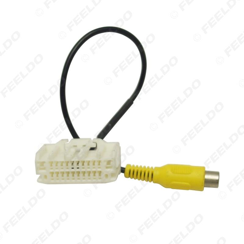 FEELDO Car Parking Rear Camera Factory Display RCA Plug Reversing Video Cable For Jeep Wrangler 2007-2017