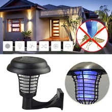 UV LED Solar Power Mosquito Lamp Pest Reject Mosquito Killer Trapping Yard Garden Lawn Repeller L