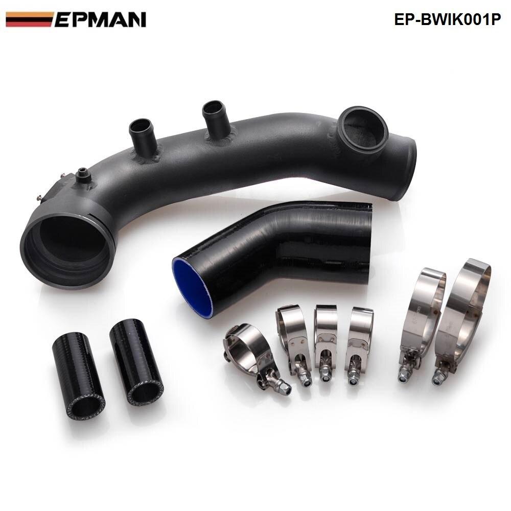 Kit de refroidissement de tuyau de Charge IntakeTurbo noir pour BMW N54 E88 E90 E92 135i 335i EP-BWTK001P
