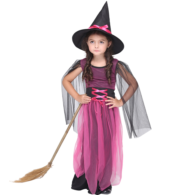 New Baby Girls Halloween Costumes Set Cute Witch Dress + Hat Performance Set Carnival Costumes for  sc 1 st  AliExpress.com & New Baby Girls Halloween Costumes Set Cute Witch Dress + Hat ...