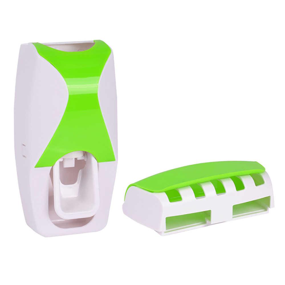 1 zestaw automatyczny dozownik pasty do zębów zestaw 5 szczoteczka do zębów uchwyt do montażu na ścianie łazienka dostarcza przybory toaletowe