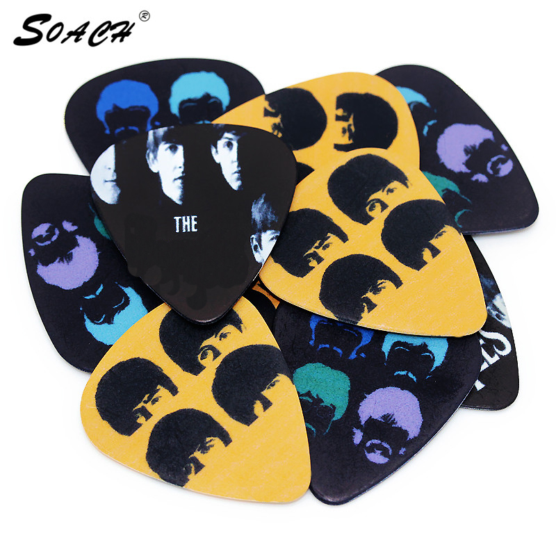 SOACH Factory Direct 10pcs Acoustic Stratocaster Guitar Picks 0.71mm Thickness Guitar Strap Guitarra Parts & Ukulele Accessories