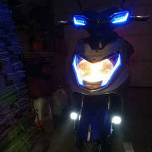 Фара для мотоцикла, скутера, противотуманная фара, 12 В, светодиодная фара для мотоцикла ATV, мотоциклиста, рабочая фара, 6500 К, Белый DRL, автомобильная фара