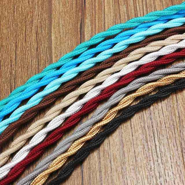 Heißer Verkauf 1 Mt 2 Core Vintage Twist Elektrischen Draht Farbe ...