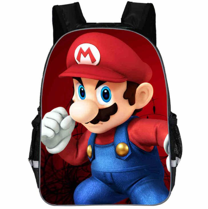 New School Bags Super Mario Printing Backpacks Fashion Children Mochila Casual Mario Shoulder Bags Boys Daily Backpacks