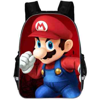 New School Bags Super Mario Printing Backpacks Fashion Children Mochila Casual Mario Shoulder Bags Boys Daily Backpacks - DISCOUNT ITEM  48% OFF All Category