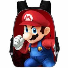 New School Bags Super Mario Printing Backpacks Fashion Children Mochila Casual M