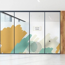 Creative window film Stained frosted glass sticker art Static Cling office PVC Self-adhesive Custom size decorative vinile films
