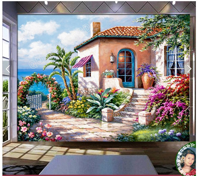 Buy large modern garden mural wallpaper for Mural garden