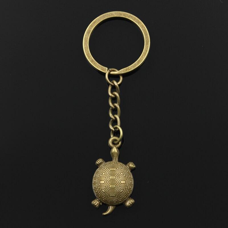 Новые модные мужские 30 мм брелок DIY металлический держатель цепи Винтаж черепаха 34*18 мм Античная бронзовая подвеска