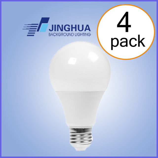 2019 new LED A19 A60 E26 110V 120V 60HZ 9W 12W 15W Bulbs, Warm White, 2700K-3000K,Cold White 5000K-5500K , Dimmable, pack of 4