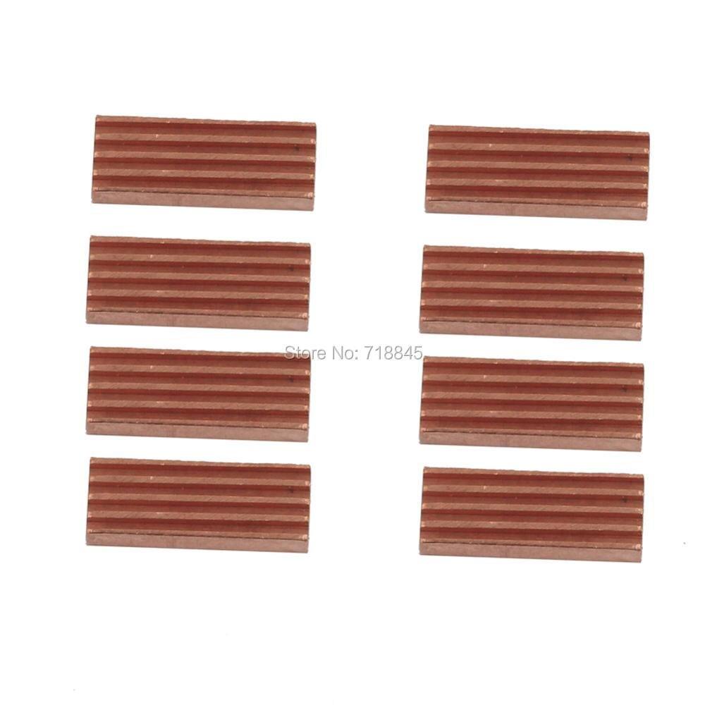 8 pçs/lote Rhs-03 memória ram Dissipador de Calor do radiador de cobre para placa VGA memória ram dissipador de calor de cobre