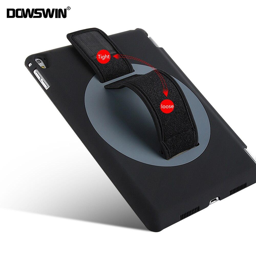 for ipad pro 9.7 case,dowswin rotating cover for apple ipad pro 9.7 2016 release pu smart wake up sleep hard pc back handheld