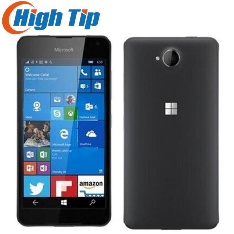 Desbloqueado Original Nokia Lumia 650 Microsoft Quad-core 16 gb ROM mobile phone 5.0 polegada 4g GPS 8MP câmera Remodelado dropshipping