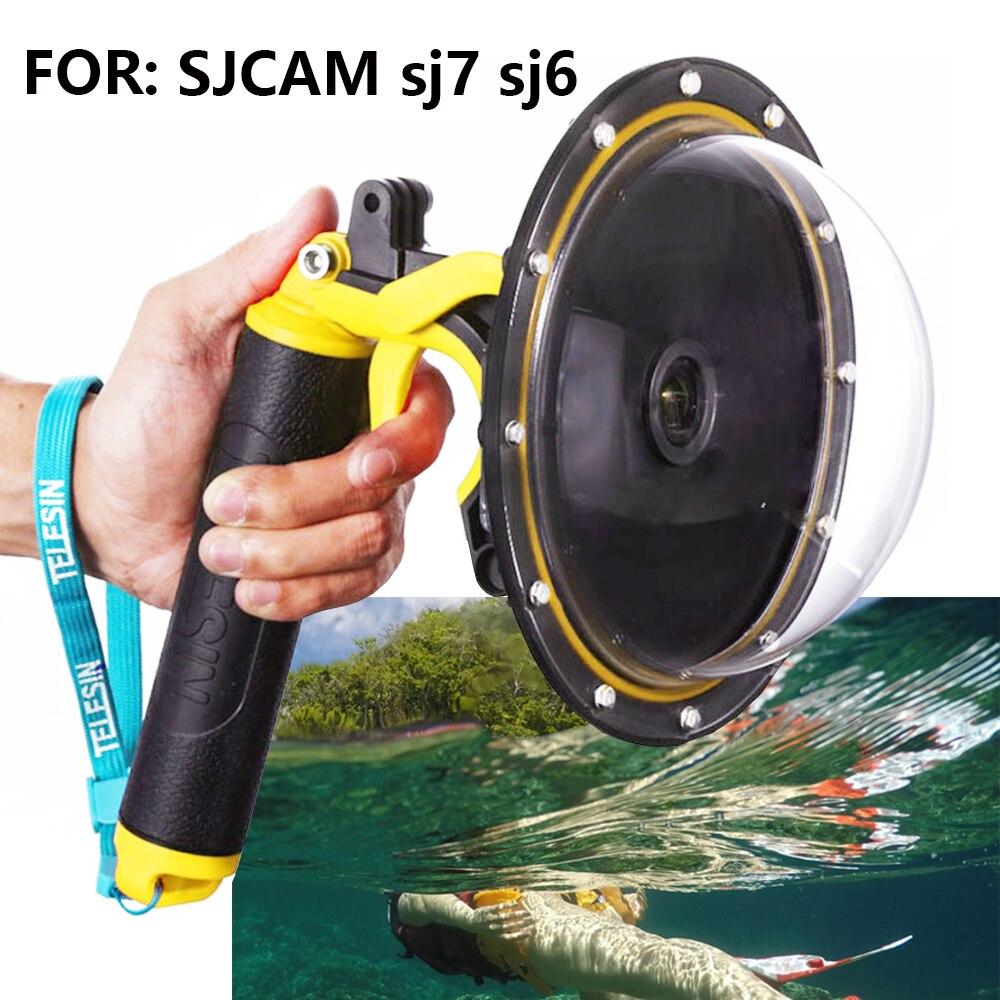 SJCAM SJ6, SJ7 objectif de caméra à bille flottante boîtier hémisphérique accessoires étanche 30 M 6 pouces sphère bouchon d'objectif d'eau