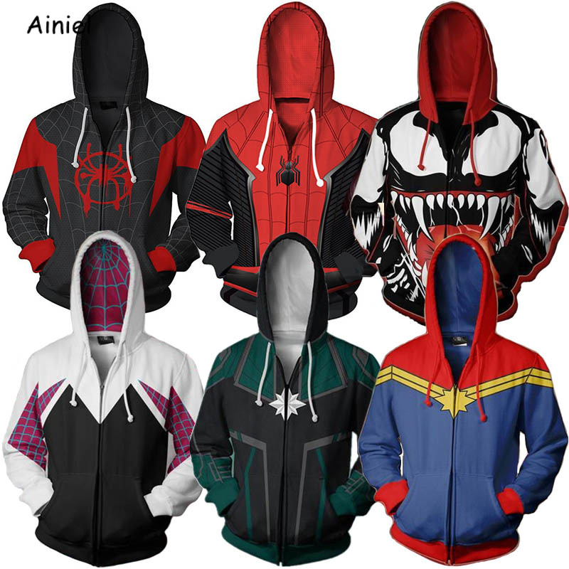 Captain America Hoodie Sweater Cosplay Costume Jacket Coat Hooded Pullovers top