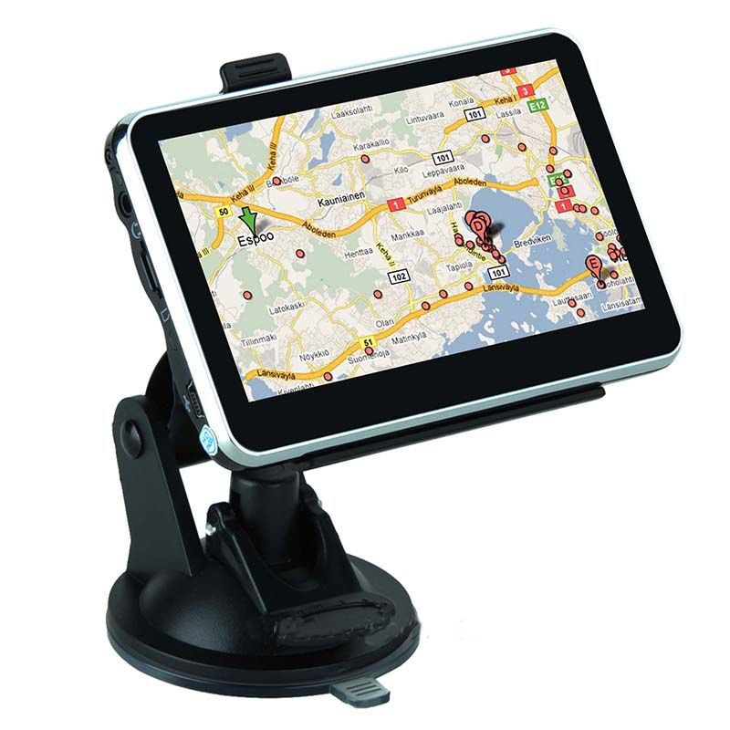 4.3 inch Touchscreen GPS Truck Navigation MTK 4GB Capacity US+Canada Maps Speedcam POI