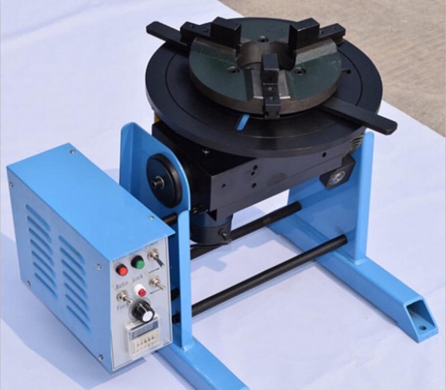 Posizionatore di saldatura HD-50 per saldatura di tubi con giradischi da 200 mm con mandrino manuale da 50 mm