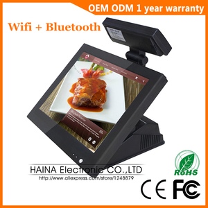 Image 1 - Haina Touch 15 inch Touch Screen Wifi POS System Epos with Customer display