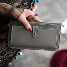 Men Women Wallet Scrub Leather Coin Purses and Handbags Lady Purse High Quality Ladies Clutch Female Long