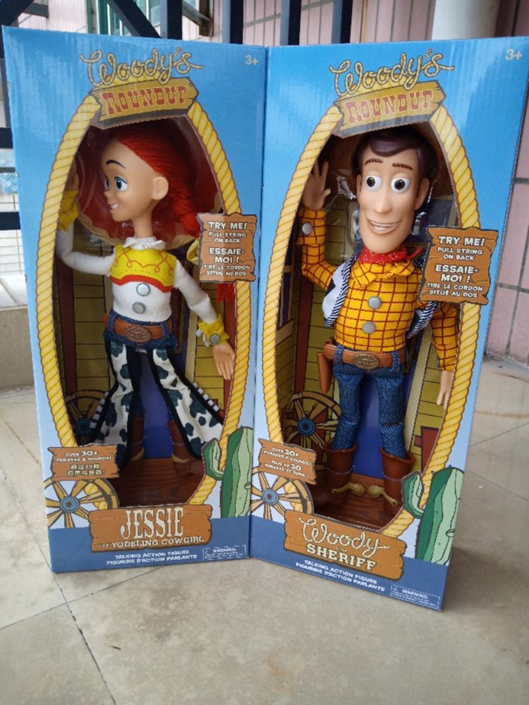 Toy Story 3 Collection Toys Talking Figures Woody Jessie PVC Action Toy Story Figures Model Toys Children Birthday Gift Toys
