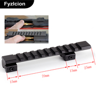 Aluminum Alloy 125 Mm Length 10 Slots Fit 11 Mm Dovetail Picatinny Weaver Rail Mount Adapter