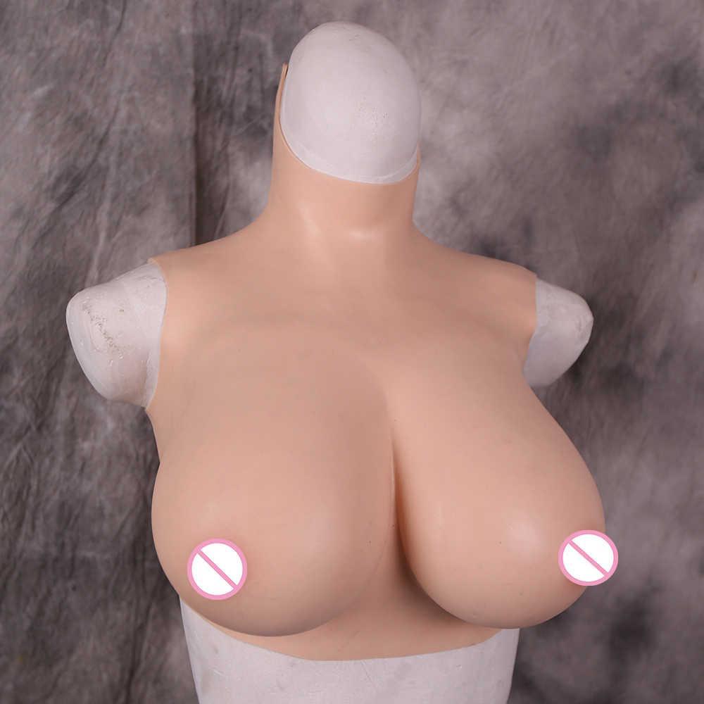 Dokier 단단한 실리콘 채워진 crossdressing 유방은 crossdresser drag queen shemale transgender를위한 거대한 가짜 가슴 가슴을 형성합니다.