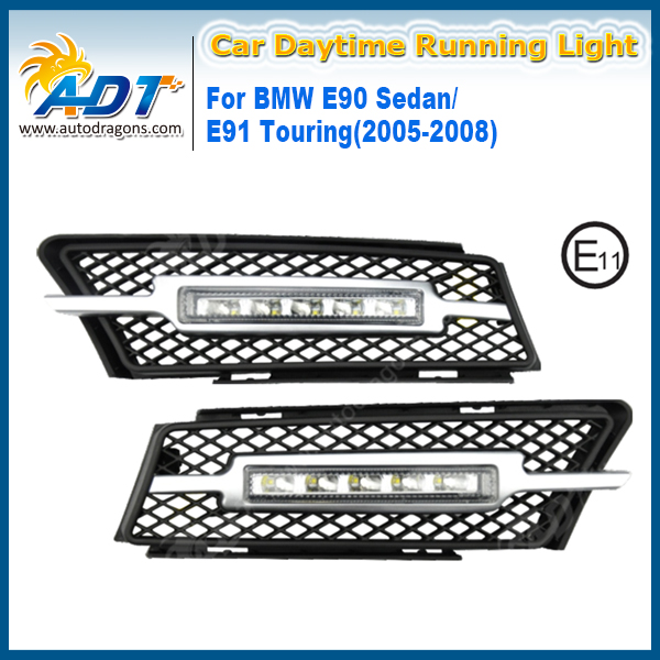 LED Car Daytime Running Light 12V 5W*2 Cr High power 1100LM for BMW E70/ X5 10-13 DRL Xenon White Daylight Kit Fog Light Lamp