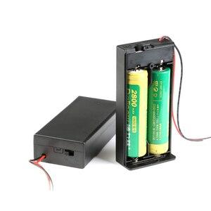 Image 2 - 2*18650 電池ボックスケースホルダーシリーズバッテリー収納ボックススイッチ & カバーdcプラグのための 2 × 18650 diy電池ホルダー