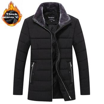 Nuevo abrigo largo para hombre, ropa de marca, chaquetas largas a la moda, abrigos de invierno, ropa de marca, abrigo para hombre, abrigo con Cuello de piel