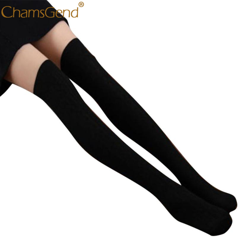 Womens Sexy New Cotton Women Knit Over Knee Stocks Spiral Pattern High Socks Mar 09