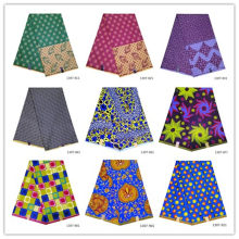 100% Polyester Wax Prints Fabric Ankara Wax High Quality 6 yards/piece African Fabric for Party Dress 1307-811(China)