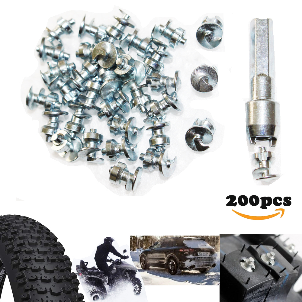 60fdf06400 Detail Feedback Questions about 200pcs Tyre Spikes for Fishing Shoes Boots  Motorbik BicycleTruck snow studs for fatbike Screw in Tire Stud Pernos de  ...