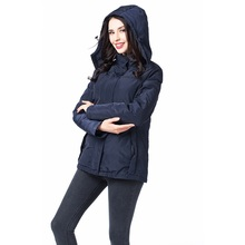 Electric heated smart clothing Outdoor windproof Temperature control battery heated down jacket for women