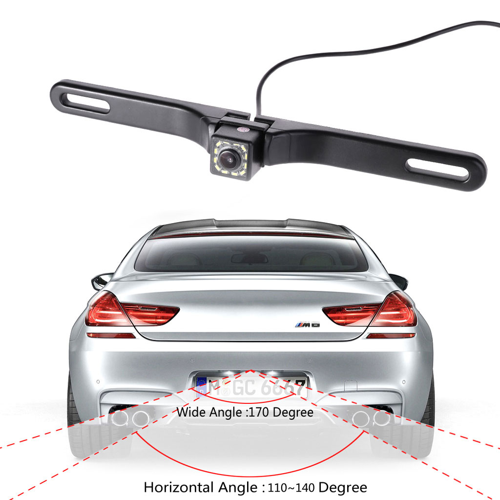 Night Vision 12 IR LED Car Rear View camera License Plate Frame Back Up Camera Car Accessories