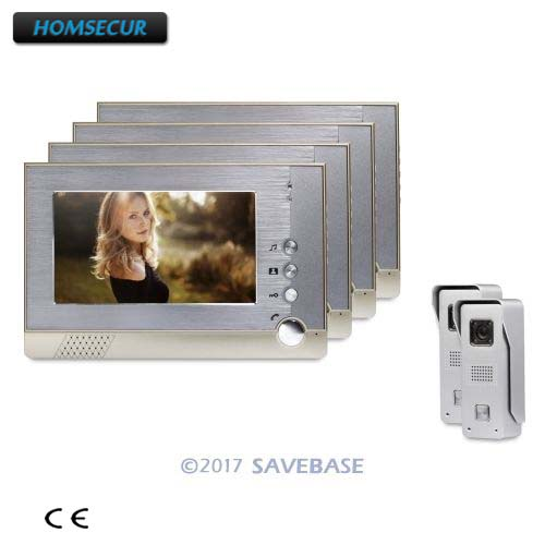 HOMSECUR 7 Wired Video Door Intercom System Quality Night-Vision with Color Images With Easy Intallation 2V4