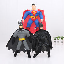 25 centímetros Justice League the avengers batman capitão américa superman Superhero Plush doll Toy Collectible(China)