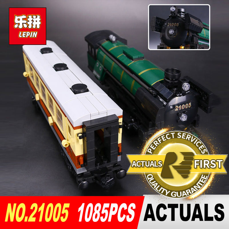 LEPIN 21005 1085Pcs Technic series the Emerald Night model building blocks set Classic compatible Steam trains Toys 10194