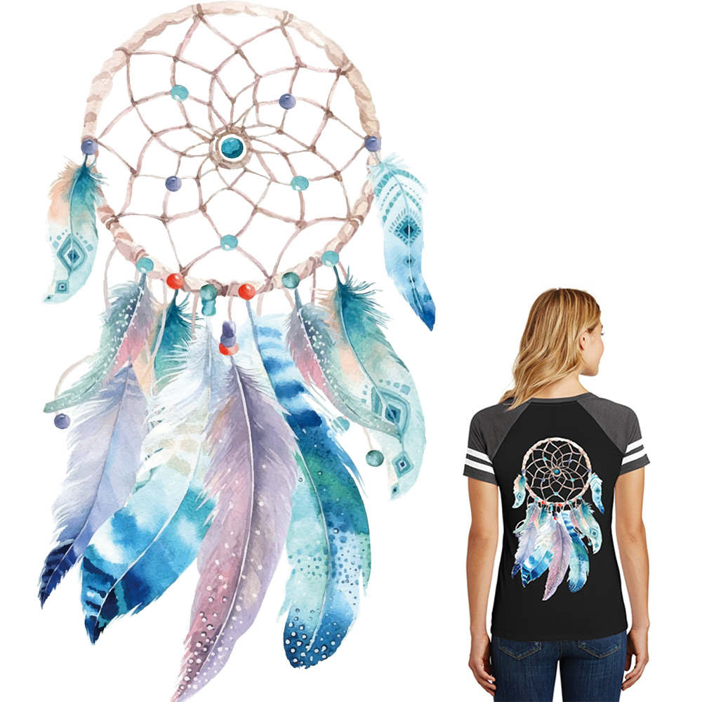 Dream Catcher Iron On Patch Heat Transfer Sticker Applique DIY Clothing Decor