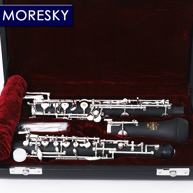 MORESKY Professional C Key Oboe Semi-automatic Style Cupronickel Plated Silver Fully automatic Oboe