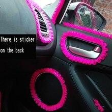 Автомобильный интерьер наклейки Розовый и красный цвет кружева наклейки и наклейки стайлинга автомобилей Авто Мото капот крышка DIY кружева Для женщин