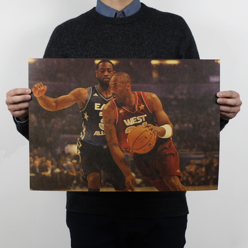 Kobe B / As Long As The Heart Must Be / NBA Basketball Inspirational / Kraft Paper Posters 51x35.5cm