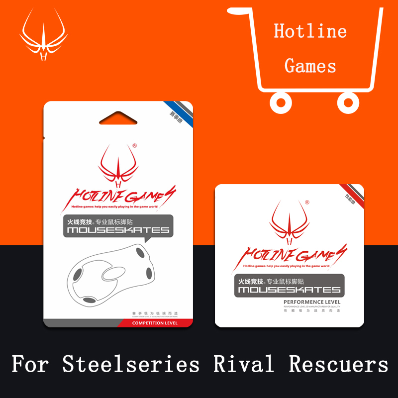4sets/pack 0.28mm Hotline Games Mouse Feet For SteelSeries rival Rescuers Competition Level MousePad Mousesskate For Gaming