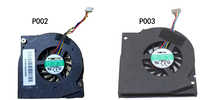 New laptop cpu fan for AVC BAAA0508R5H P002 P003 DC5V 0.5A 4 line notebook graphics system cooling fan cooler