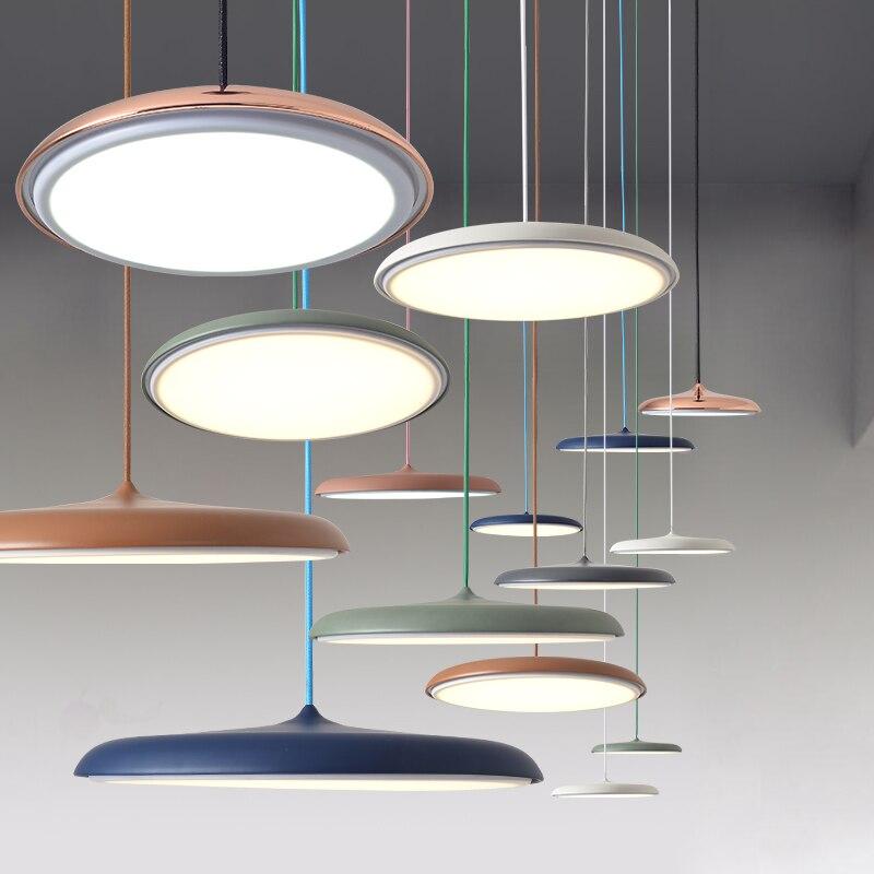 Projeto Da Arte moderna Pingente de Luz LED UFO Rodada Placa Lâmpada de Suspensão Para Sala De Jantar Sala de estar Quarto Estudo Mesa Pendurado lâmpada|Luzes de pendentes| |  - title=