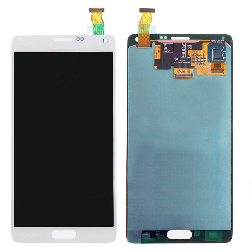 White Touch Screen Digitizer + LCD Display Assembly Replacement FOR Samsung Galaxy Note 4 N910A N910V N910T Free shipping 100% brand new lcd digitizer touch screen display assembly for samsung galaxy note 4 n910 n910a n910v n910p n910t black or white