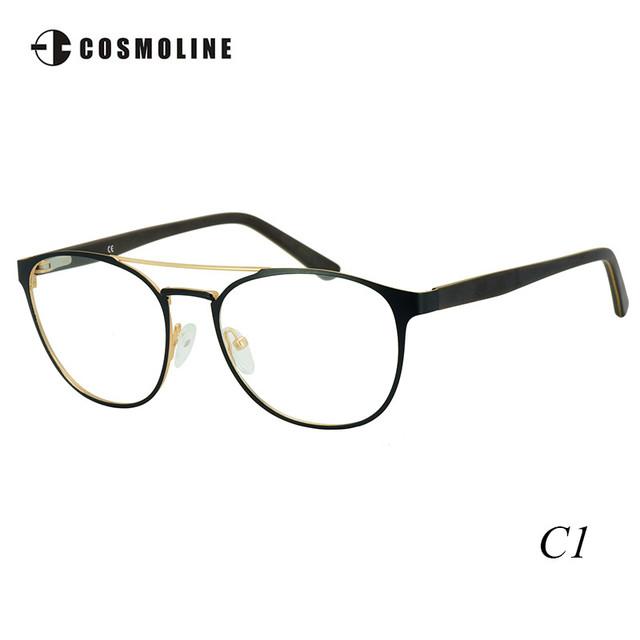 Cosmoline Marca Nova Rodada Armações De Óculos De Metal Moldura De Vidro para As Mulheres das Mulheres Miopia Óculos Brillengestell 472
