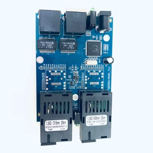 Image 5 - 10/100/1000M 기가비트 이더넷 스위치 이더넷 광 미디어 컨버터 단일 모드 2 RJ45 UTP 및 2 SC 광섬유 포트 보드 PCB
